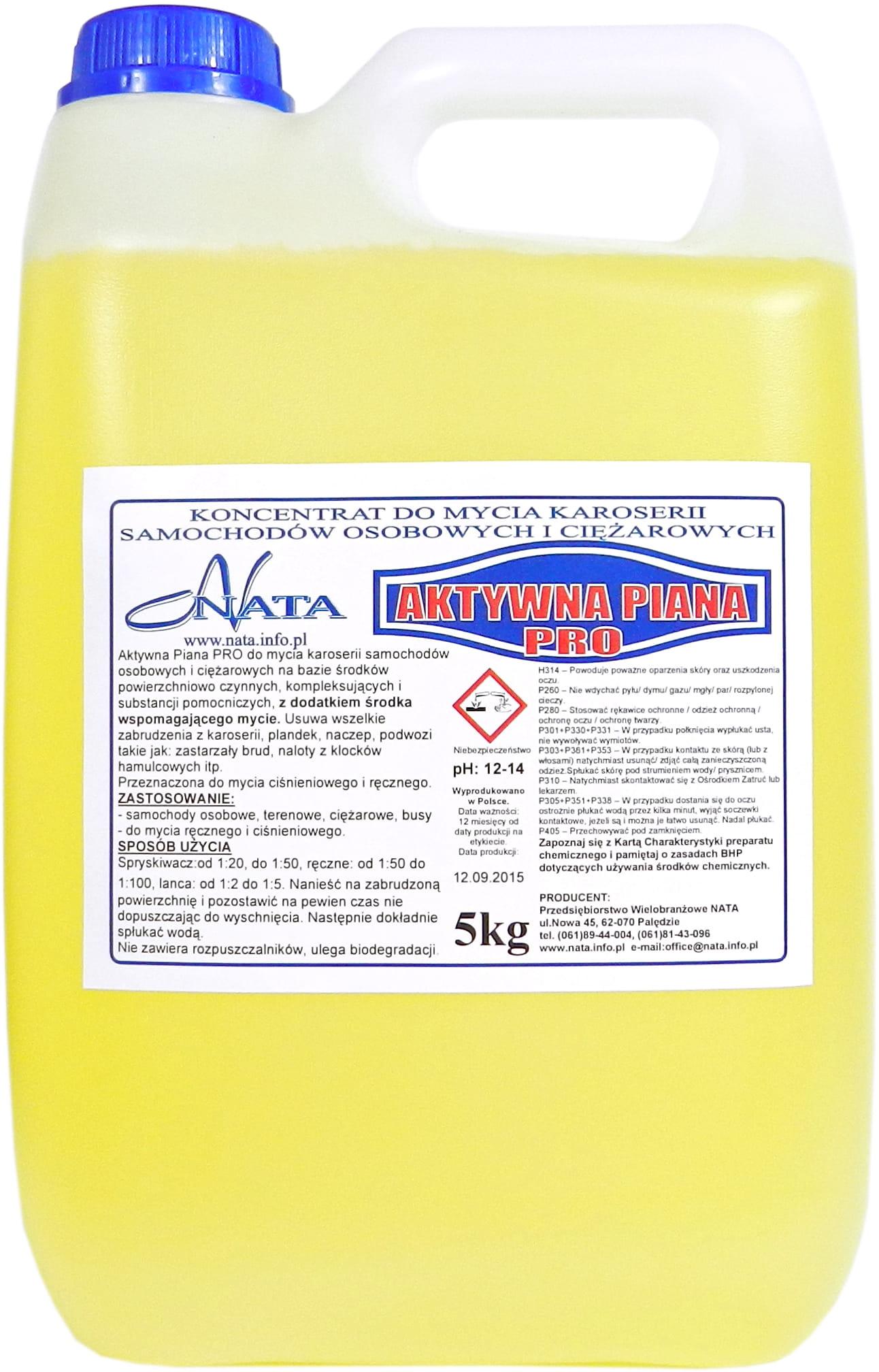 Aktywna Piana PRO 5kg - myjnia ręczna lub bezdotykowa